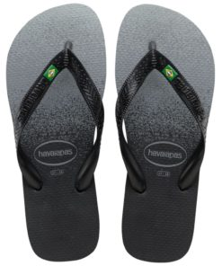 Havaianas Womens Brasil Fresh Black Flip Flops