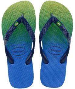 Havaianas Womens Brasil Fresh Blue Star Flip Flops