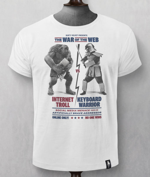 Dirty Velvet War Of The Web Graphic Tee - Vintage White